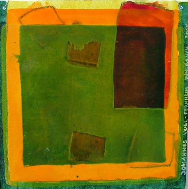 grün-orange - 30x30 cm - ÖlK - Innsbruck - 2005